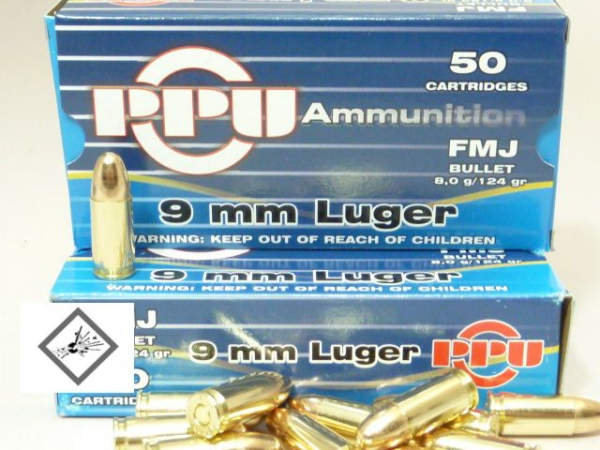 PPU 9mm Luger 115grs VM Military Line