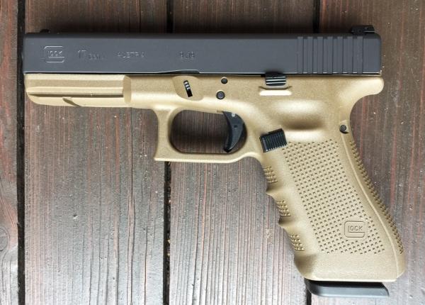 Glock 17 FDE, 9mm Luger, Sondermodell im Paket!