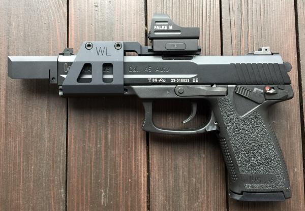 WL-Mk23-Montage für HK Mk23 SOCOM mit Picatinny