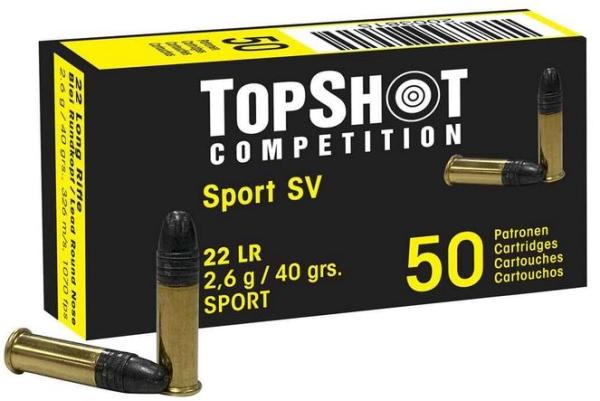 TOPSHOT Comp. .22lr Black Edition SV 40grs