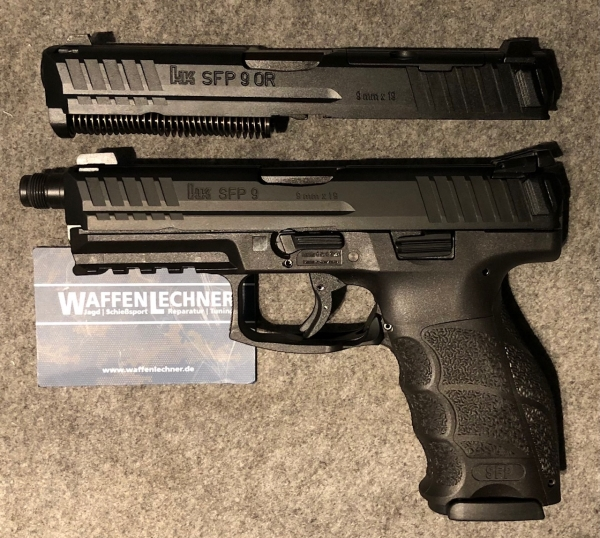 Angebot! Heckler & Koch SFP9 SD Tactical mit Wechselsystem SFP9 Optical Ready, alle in 9mm Luger