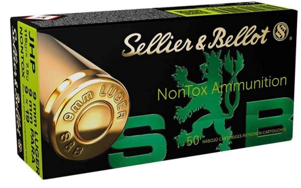 Sellier & Bellot 9mm Luger, 115grs HP NONTOX, 1000 Stk.