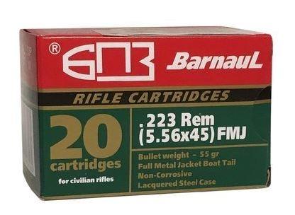 Barnaul .223 Rem. 55grs VM lackierte Stahlhülse 20er-Box
