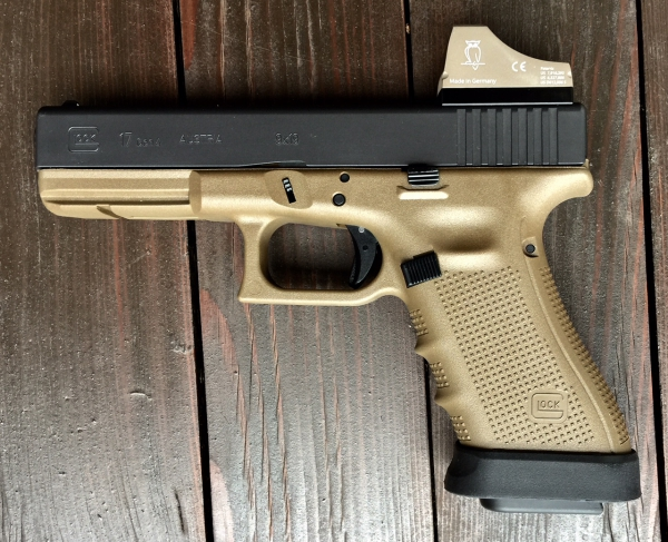 Glock 17 FDE, 9mm Luger, WL-Edition mit Docter C FDE