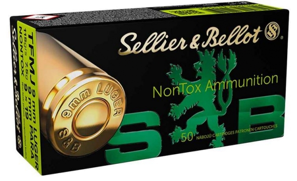 Sellier & Bellot 9mm Luger, 115grs NONTOX, 1000 Stk.