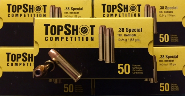 TOPSHOT .38 Spec. 158grs TM HP